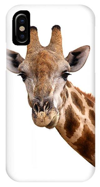 Cutout iPhone Case - Giraffe Portrait by Johan Swanepoel