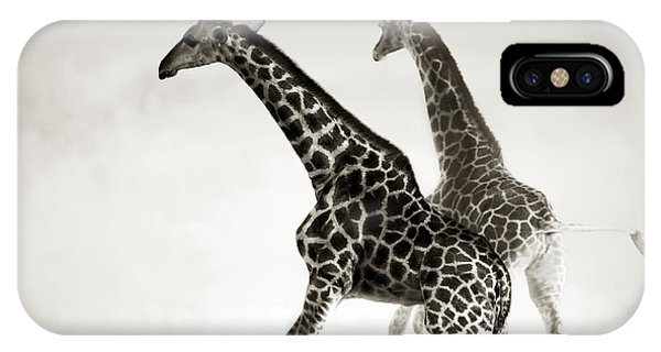 Giraffes Fleeing IPhone Case