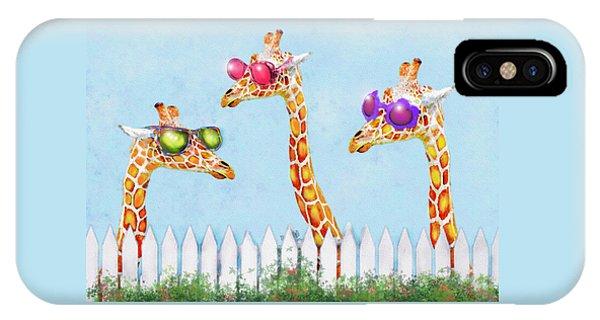Giraffes In Sunglasses IPhone Case