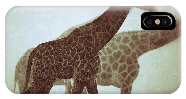 Giraffes In The Mist IPhone Case