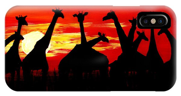 Giraffes Sunset Africa Serengeti IPhone Case