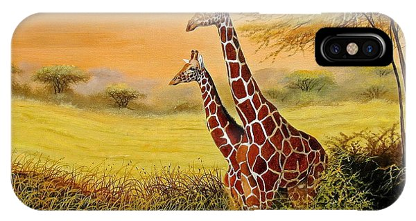 Giraffes Watching IPhone Case