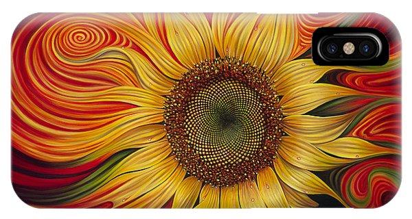Floral iPhone Case - Girasol Dinamico by Ricardo Chavez-Mendez