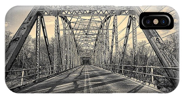 Girders..old Gravois Bridge IPhone Case