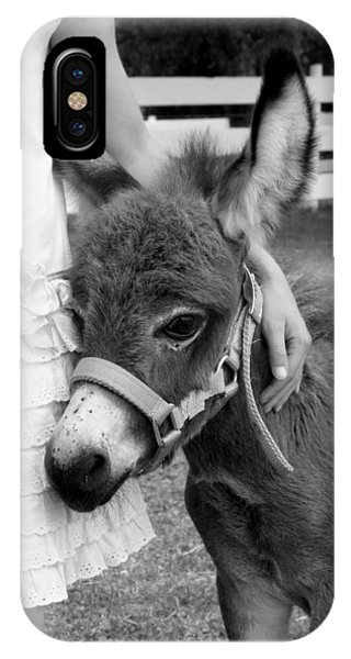 Girl And Baby Donkey IPhone Case