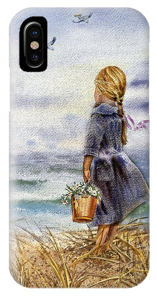 Girl And The Ocean IPhone Case
