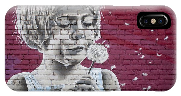 Girl Blowing A Dandelion IPhone Case