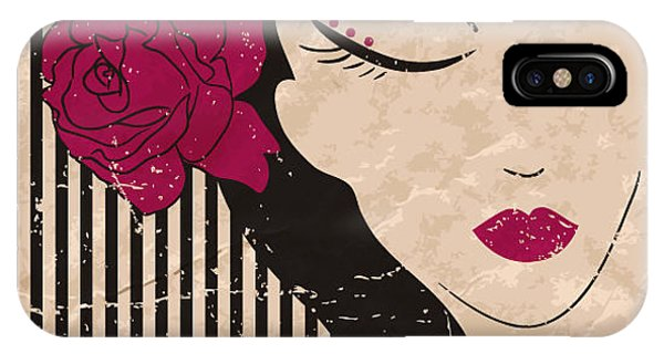 Spa iPhone Case - Girl Head With Flower. Vector by Little one