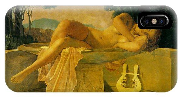 Harp iPhone Case - Girl In A Basin by Paul  Delaroche