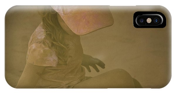 Girl In A Dust Storm Phone Case by Debbie Cundy