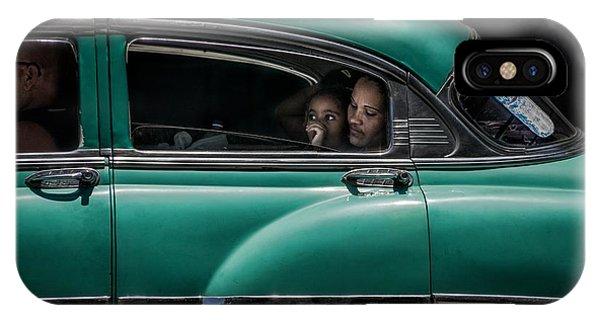 Car iPhone Case - Girl In Green by Pavol Stranak