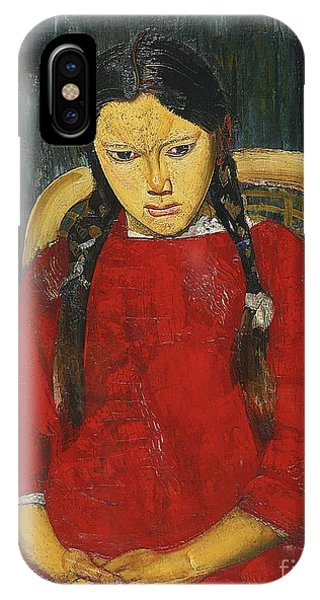 Russian Impressionism iPhone Case - Girl In Red by Celestial Images