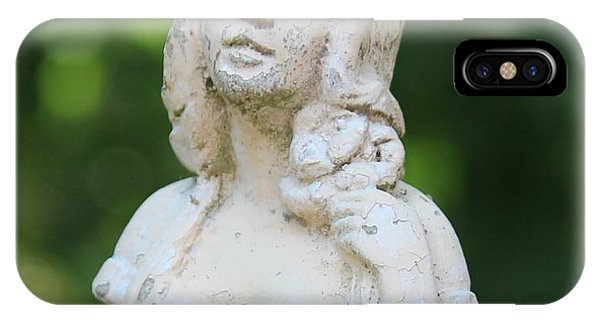 Girl In The Garden Statue IPhone Case