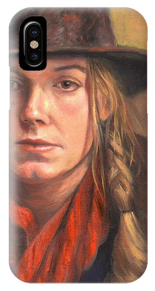 Girl In The Red Scarf Phone Case by Terri  Meyer