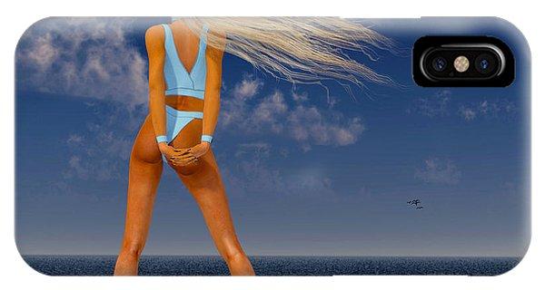 Girl On The Beach... IPhone Case