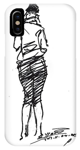 Sketch iPhone Case - Girl Sketch by Ylli Haruni