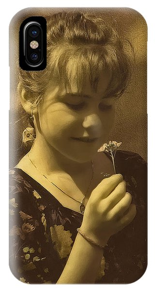 Girl With Flower IPhone Case