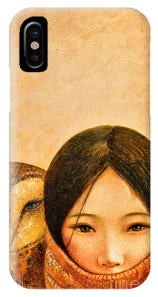 Girl With Owl IPhone Case