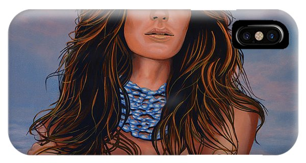 Victoria iPhone Case - Gisele Bundchen Painting by Paul Meijering