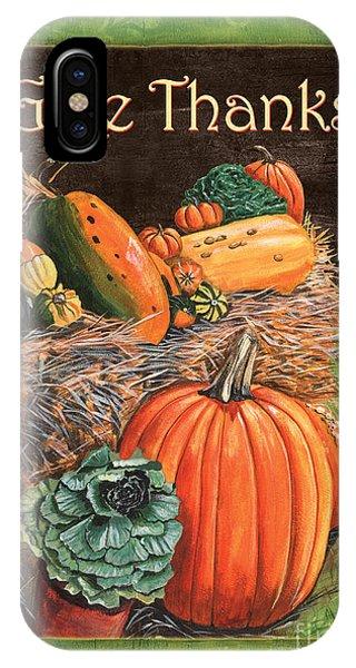 Pumpkin iPhone Case - Give Thanks by Debbie DeWitt