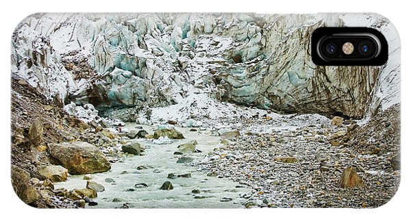 Glacier And River In Mountain IPhone Case