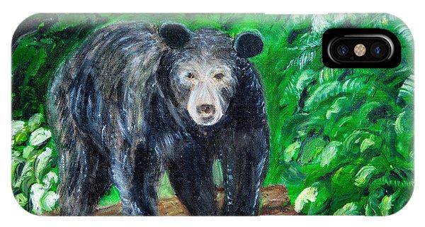 Glacier Black Bear IPhone Case