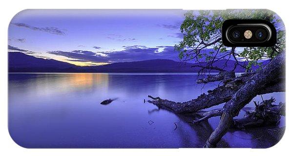 Dark Blue iPhone Case - Glacier Blue by Chad Dutson