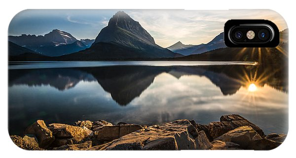 Sun iPhone Case - Glacier National Park by Larry Marshall