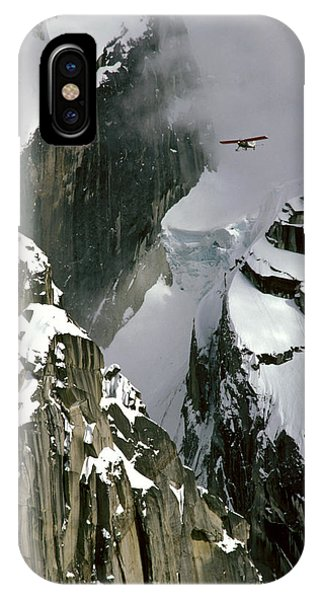 Glacier Pilot & Plane In Ak Range IPhone Case