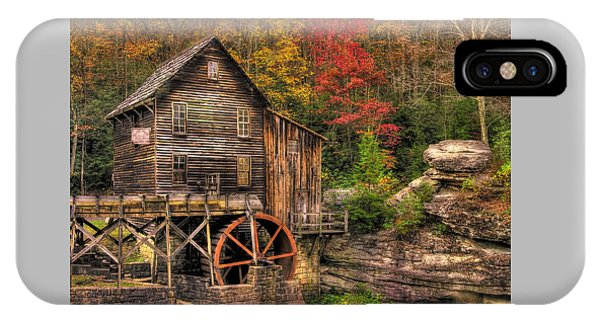 Glade Creek Grist Mill-1a Babcock State Park Wv Autumn Late Afternoon IPhone Case