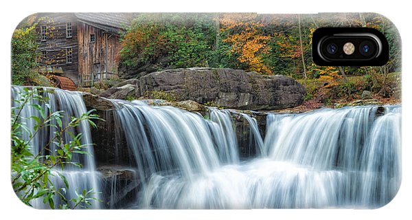 Glade Creek Grist Mill And Waterfalls IPhone Case