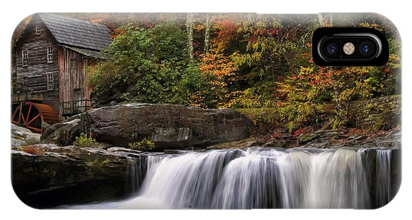 Glade Creek Grist Mill - Photo IPhone Case