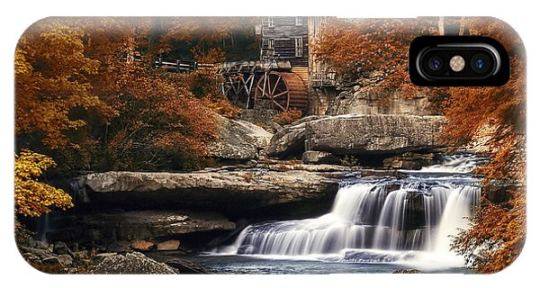 Foliage iPhone Case - Glade Creek Mill In Autumn by Tom Mc Nemar