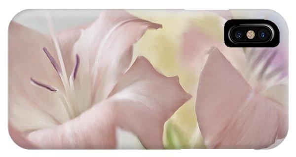 iPhone Case - Gladiolas I by Ron Morecraft