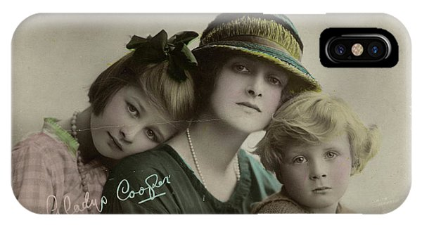 Child Actress iPhone Case - Gladys Cooper (1888 - 1971), English by Mary Evans Picture Library