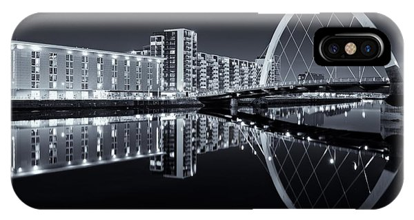 Glasgow In Black And White IPhone Case