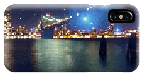 Glass Block Brooklyn Bridge Among The Stars IPhone Case