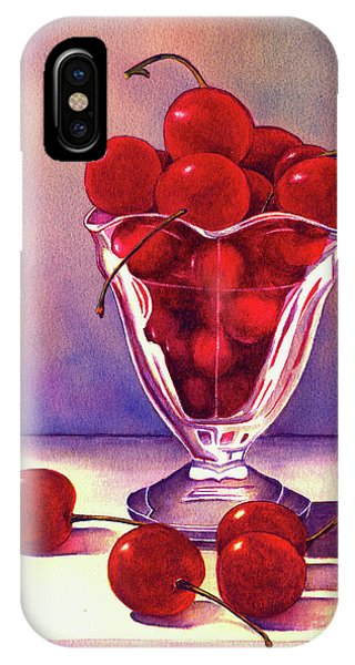 Glass Full Of Cherries IPhone Case