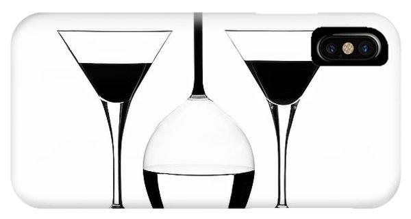 Martini iPhone Case - Glass by Monika Bicski