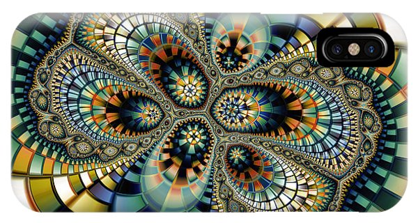 Fractal Landscape iPhone Case - Glass Mosaic-geometric Abstraction by Karin Kuhlmann