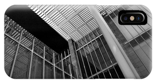 Glass Steel Architecture Lines Black White IPhone Case
