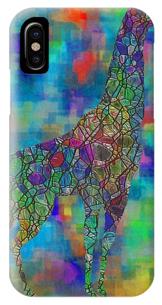 Digital Effect iPhone Case - Glassed Giraffe by Jack Zulli