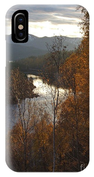 Silver And Gold - Glen Affric IPhone Case
