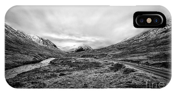 Beautiful Scotland iPhone Case - Glen Etive Road And River by John Farnan