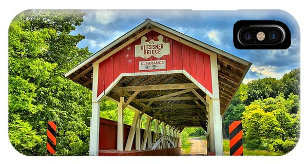 Somerset County iPhone Case - Glessner Covered Bridge by Adam Jewell