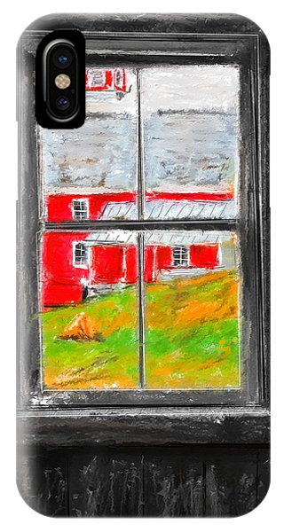 Glimpse Of Country Life- Red Barn Art IPhone Case