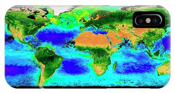 Phytoplankton iPhone Case - Global Biosphere by Nasa/seawifs/geoeye