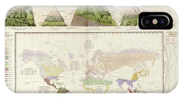 Physical iPhone Case - Global Botanical Geography by Library Of Congress, Geography And Map Division