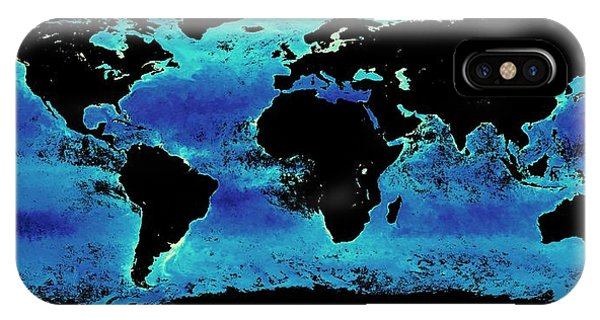 Phytoplankton iPhone Case - Global Chlorophyll Levels by Nasa Earth Observations