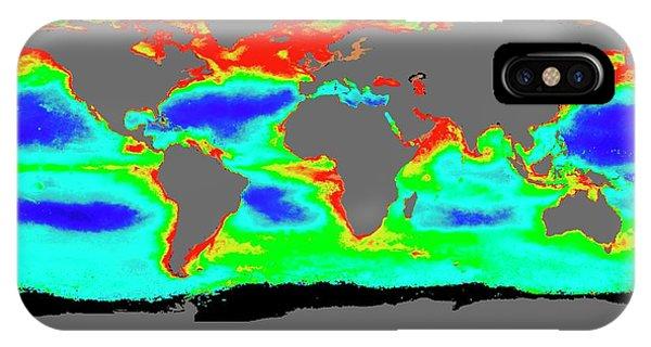 Phytoplankton iPhone Case - Global Chlorophyll Levels by Nasa/gsfc-svs/seawifs/geoeye